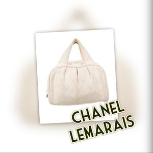 CHANEL LeMARAIS QUILTED BOWLER BAG in Ivory